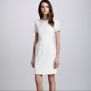 Marc by Marc Jacobs Dress White Scallop Tier Lace